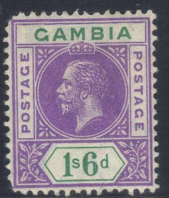 Gambia 1912-1922 Definitives Sg98 M/m Cat £19
