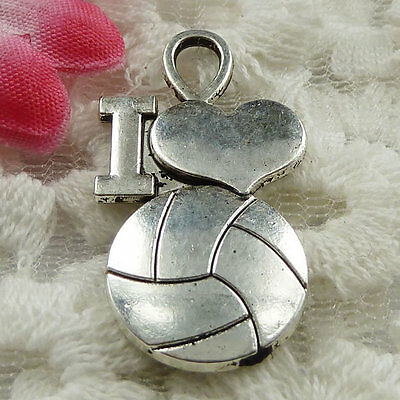 Free Ship 35 pieces Antique silver basketball pendant 31x17mm #1404