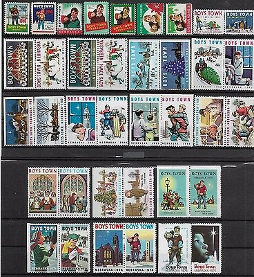 United States USA MNH 37 Boys Town seals /  Cinderella - see scans