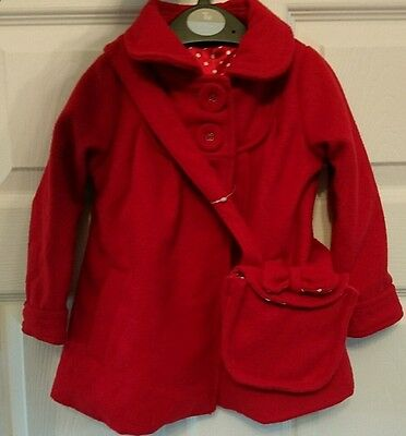 GEORGE Girls Smart Red Coat with Matching Bag 12-18 Months BNWT