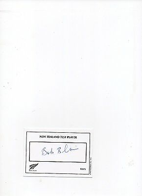 N Z cricket autograph. Bob Blair