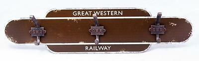 GWR railway train totem sign coat hook board enthusiasts present