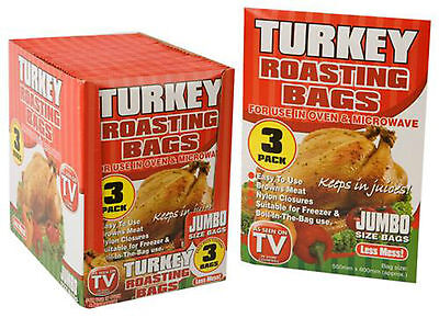 Turkey Poultry Roasting Bags 55 X 60Cm - Cooking/kitchen/oven/microwave- 3 In Pk