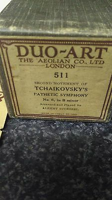 AEOLIAN DUO-ART REPRODUCING PIANOLA ROLL ,Tchaikovsky pathetic symphony B minor