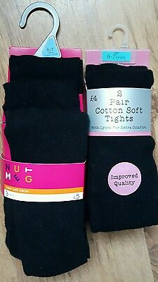 Girls black tights bundle for school - Age 6 to 7 years - 5 pairs