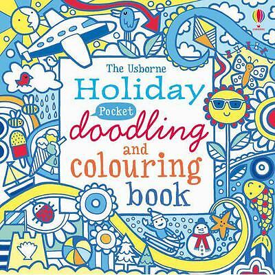 Pocket Doodling and Colouring: Holiday (Usborne Art Ideas),  | Paperback Book |