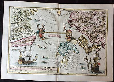 Highly Unusual 1702 Map Of The Pacific Featuring California As An Island
