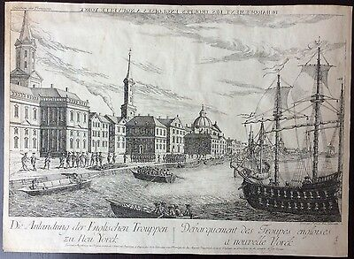 Extremely Rare & Detailed 1780 Optical Print Of New York