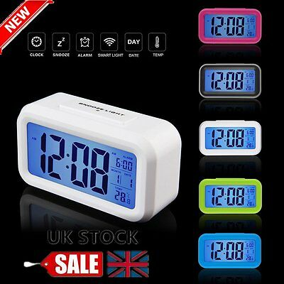 Digital LCD Snooze Electronic Alarm Clock with LED Backlight Light Control ZK