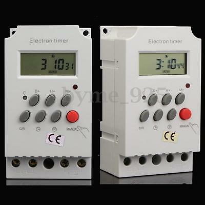 220V 25A Din Rail Digital Programmable Electronic Timer Switch w/ English Manual