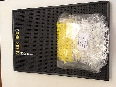 Econ 4 Peg Board with Changeable Letters included  915x610 mm