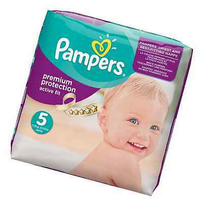 Pampers Premium Protection Active Fit Nappies, Monthly Saving Pack - Size 5, 136