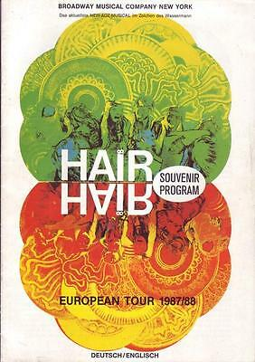 Hair Souvenir Programm - European Tour 1987/88