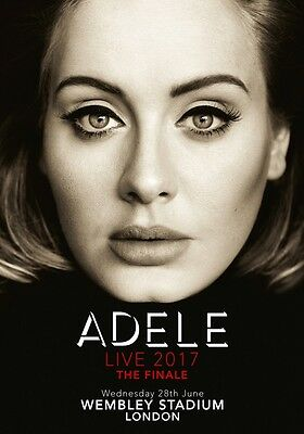 ADELE Live: London Wembley Stadium 28th June 2017 PHOTO Print POSTER CD 25 21 46