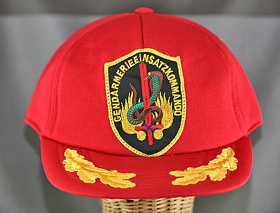 Very Rare Austrian Counter Terrorist Police Snap Back Cap With Patch