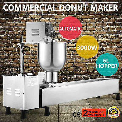 Donut Maker Making Machine Mini   Donuts Wider Oil Tank 300-500Pcs/hours Good