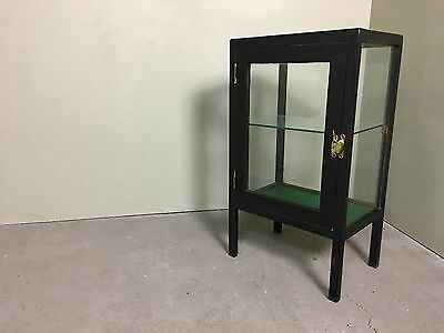 Fabulous Antique Wooden framed glass Shop display Cabinet On Legs