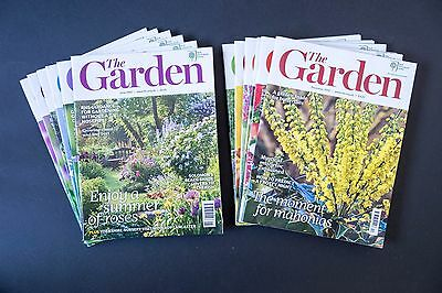THE GARDEN RHS magazine - 2012 full year of all 12 issues - excellent condition