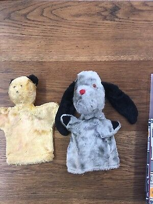 Vintage  Chad Valley Sooty And Sweep Hand Puppets