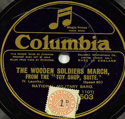 Schellackplatte - National Military Band - The Wooden Soldiers March -gramophone