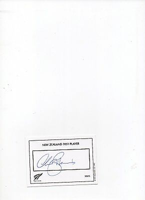 cricket autograph Chris Harris