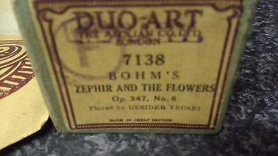 AEOLIAN SONG ROLL Bhom.s ,zephir and the flowers, Vintage BOXED Antique
