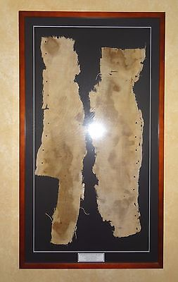 Egypt Antiquity 1069-945 B.c. Large Mummy Linen Wrappings - Conservation Framed