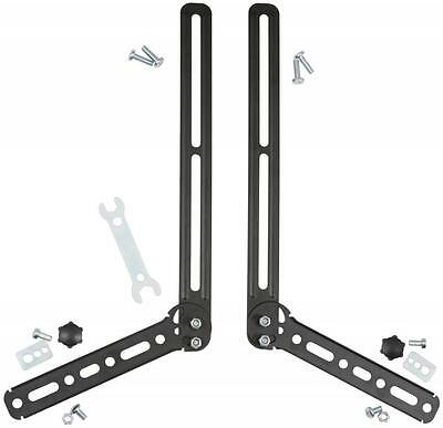 Av:link 129.596 Adjustable Angle Universal L Shaped Soundbar Brackets - Black