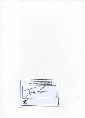 N Z cricket autograph Jimmy Neesham