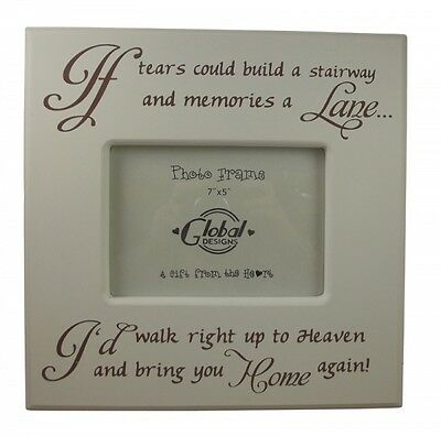 If Tears Could Build a Stairway Rememberance Photo Frame - Memory Frame
