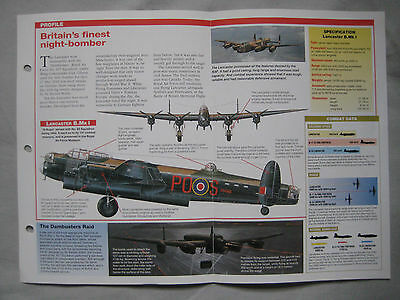 Aircraft of the World Card 1 , Group 10 - Avro Lancaster
