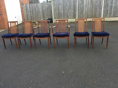 G PLAN DINING CHAIRS E GOMME BERGERE LATE 70s
