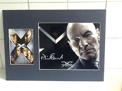 Patrick Stewart X-Men 2 Autographed Photo In A Frame