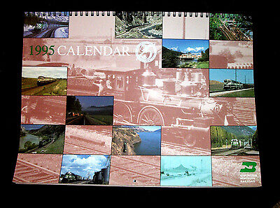 1995 BURLINGTON NORTHERN RAILROAD 14 Month calendar-NEW