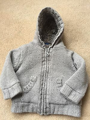 Baby Boys Jacket/thick Cardigan Size 18-24 Months