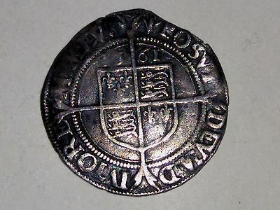 1561 Hammered Elizabeth 1st Silver Sixpence