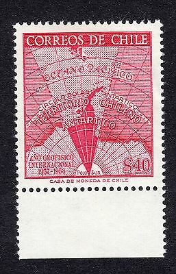 1958 Chile 40p IGY AIR SG 473 Mounted Mint R17768