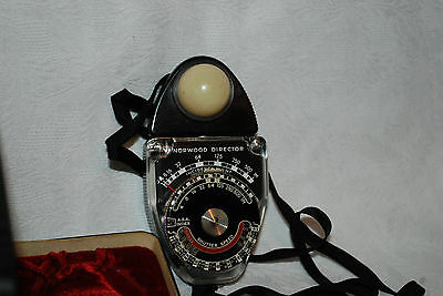 The Norwood Director Exposure Meter Model B No. 30425  untested with case