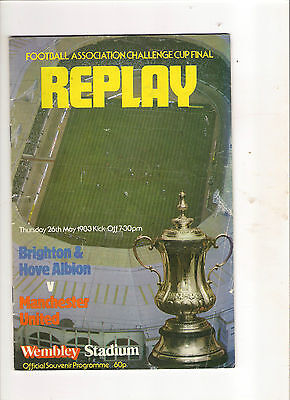 1983  FA Cup Final Replay------Brighton v Manchester United