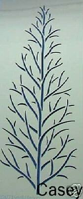 Dreamweaver Stainless Steel Embossing Stencil - Single Bare Tree - New