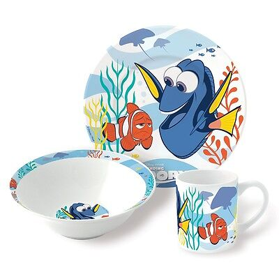 3 Piece Finding Dory Ceramic Snack Set