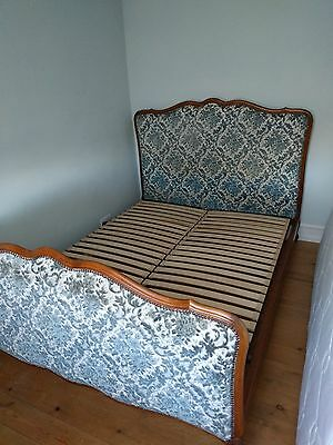 Vintage French Original fabric Double Bed