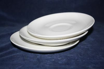 3 Vintage USA Russel Wright Iroquois Casual White Saucers