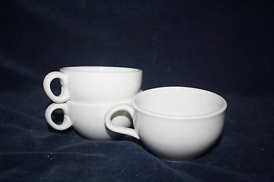 Three Russell Wright Coffee Cups White