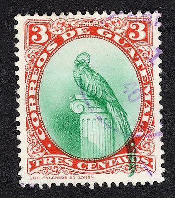 Guatemala 3c Red and Green FINE USED R18095
