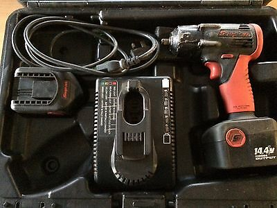 "Snap-On 14.4 3/8"" Drive CTU4410 Cordless Impact Wrench Gun 2 Batteries + Charger"
