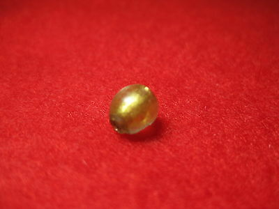 Ancient Gold in Glass Roman 5 mm Bead 1 BC-1 AD z40