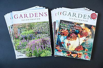 GARDENS ILLUSTRATED magazine - 2013 full year of all 12 issues - excellent
