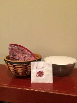 """2004  Longaberger Collector's Club Proudly American 9"""" Bowl Basket Combo"""