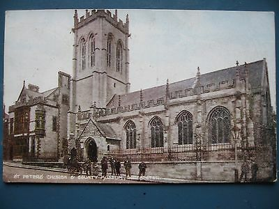 Postcard. St Peters Church & CountyMuseum Dorchester Pre WW1